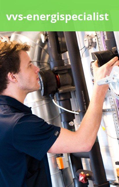 vvs-energispecialist i arbejde
